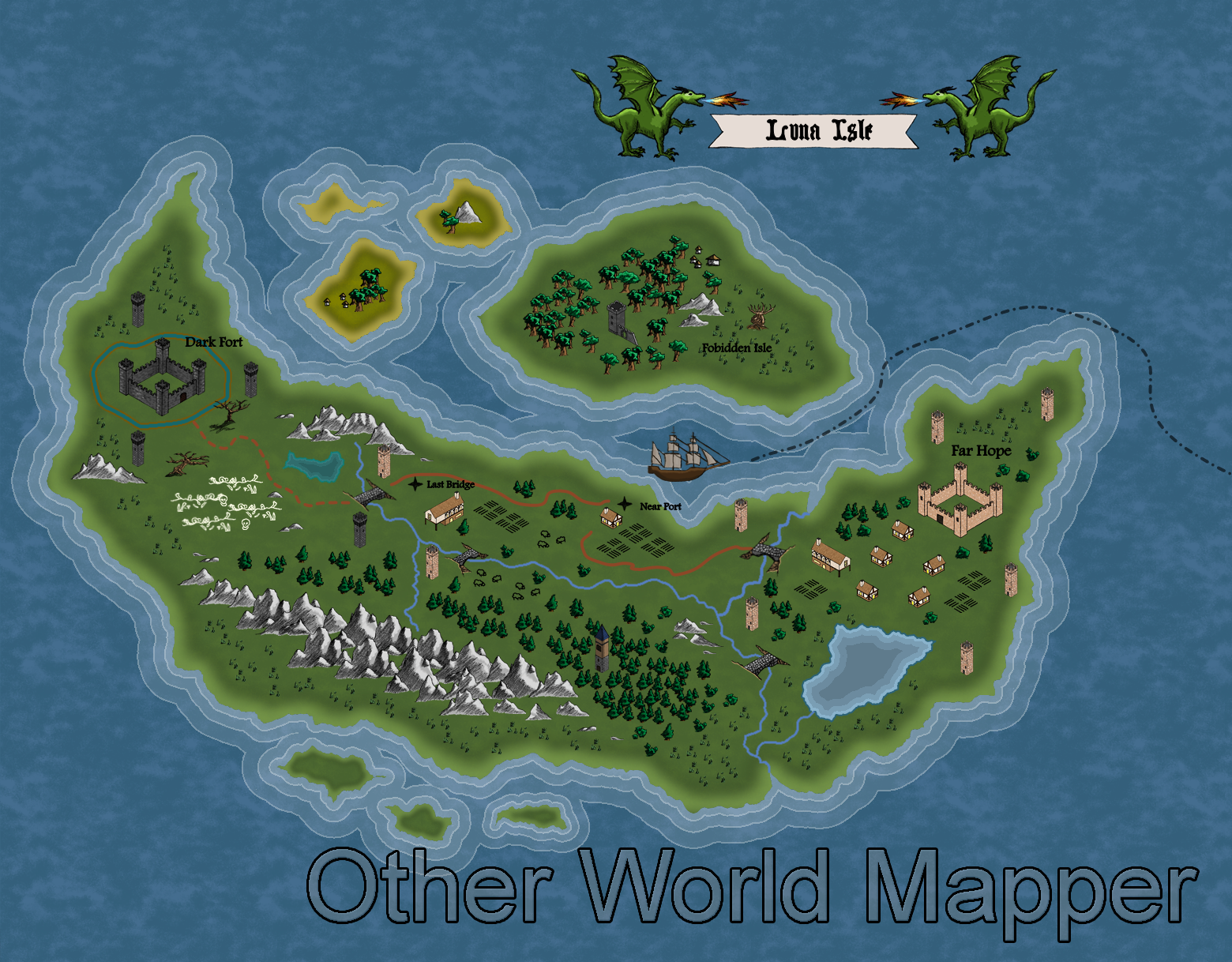 Other world mapper map design software by three minds software color map created from start to finish with other world mapper gumiabroncs Gallery