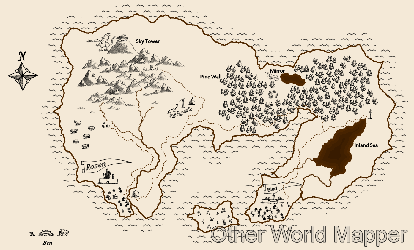 Sketchy Map Created From Start To Finish With Other World Mer